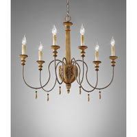 Feiss Annabelle 6 Light Chandelier in Ivory Crackle F2733/6IC alternative photo thumbnail