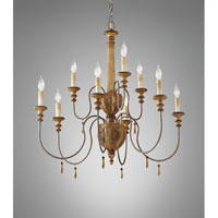 Feiss Annabelle 9 Light Chandelier in Ivory Crackle F2734/6+3IC