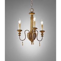 Feiss Annabelle 3 Light Mini Chandelier in Ivory Crackle F2735/3IC