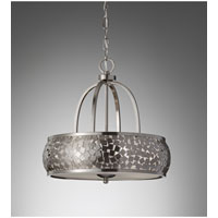 Feiss Zara 4 Light Chandelier in Brushed Steel F2737/4BS alternative photo thumbnail