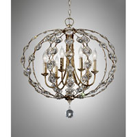 Feiss F2740/6BUS Leila 6 Light 28 inch Burnished Silver Chandelier Ceiling Light alternative photo thumbnail