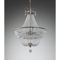 Feiss Dutchess 3 Light Mini Chandelier in Burnished Silver F2743/3BUS