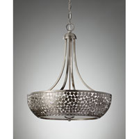 Feiss Zara 4 Light Chandelier in Brushed Steel F2745/4BS