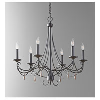 Feiss Aliya 6 Light Chandelier in Rustic Iron F2746/6RI