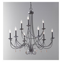 Feiss Aliya 9 Light Chandelier in Rustic Iron F2748/6+3RI