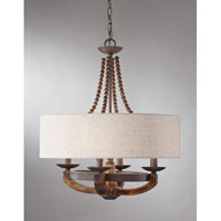 Feiss F2752/4RI/BWD Adan 4 Light 22 inch Rustic Iron and Burnished Wood Chandelier Ceiling Light alternative photo thumbnail
