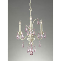 Feiss Charlene 3 Light Mini Chandelier in Ivory F2756/3IV