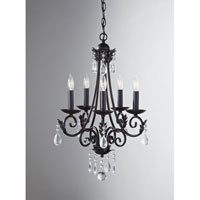 Feiss Nadia 5 Light Chandelier in Black F2758/5BK