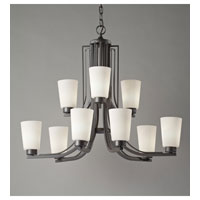 Feiss Weston 9 Light Chandelier in Colonial Iron F2764/6+3CI