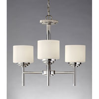 Feiss Malibu 3 Light Chandelier in Polished Nickel F2765/3PN