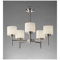 Feiss Malibu 5 Light Chandelier in Polished Nickel F2766/5PN