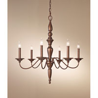 Feiss Yorktown Heights 6 Light Chandelier in Prescott Bronze F2789/6PRBZ