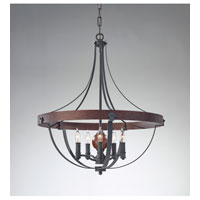 Feiss Alston 5 Light Chandelier in AF and Charcoal Brick and Acorn F2794/5AF/CBA