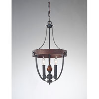 Feiss Alston 3 Light Mini Chandelier in AF and Charcoal Brick and Acorn F2795/3AF/CBA