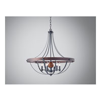 Feiss Alston 6 Light Chandelier in AF and Charcoal Brick and Acorn F2796/6AF/CBA