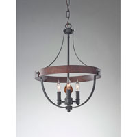 Feiss Alston 3 Light Mini Chandelier in AF and Charcoal Brick and Acorn F2797/3AF/CBA