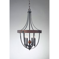 Feiss F2798/4AF/CBA Alston 4 Light 16 inch Antique Forged Iron, Charcoal Brick, Acorn Chandelier Ceiling Light alternative photo thumbnail