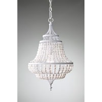 Feiss Maarid 1 Light Mini Chandelier in White Semi Gloss F2799/1WSG
