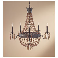 Feiss Marcia 5 Light Chandelier in Rustic Iron F2804/5RI