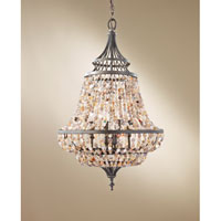 Feiss Maarid 4 Light Chandelier in Rustic Iron F2807/4RI
