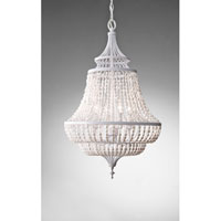 Feiss Maarid 4 Light Chandelier in White Semi Gloss F2807/4WSG