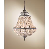 Feiss Maarid 6 Light Chandelier in Rustic Iron F2808/6RI