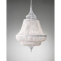 Feiss Maarid 6 Light Chandelier in White Semi Gloss F2808/6WSG