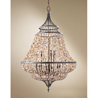 Feiss Maarid 9 Light Chandelier in Rustic Iron F2809/9RI