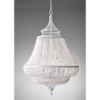 Feiss Maarid 9 Light Chandelier in White Semi Gloss F2809/9WSG alternative photo thumbnail
