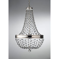 Feiss F2810/8PN Malia 8 Light 21 inch Polished Nickel Chandelier Ceiling Light
