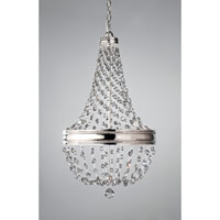 Feiss Polished Nickel Crystal Malia Chandeliers