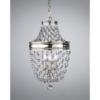 Feiss Malia 3 Light Mini Chandelier in Polished Nickel F2812/3PN