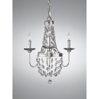 Feiss Malia 3 Light Mini Chandelier in Polished Nickel F2813/3PN