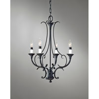 Feiss Peyton 4 Light Mini Chandelier in Black F2820/4BK