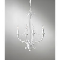 Feiss Peyton Saltspray 4 Light Mini Chandelier in Semi Gloss White F2820/4SGW