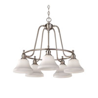 Feiss Cumberland 5 Light Chandelier in Brushed Steel F2821/5BS
