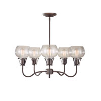 Feiss Urban Renewal 5 Light Chandelier in Rustic Iron F2824/5RI