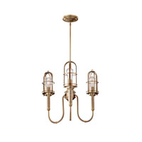 Feiss Urban Renewal 3 Light Chandelier in Dark Antique Brass F2825/3DAB