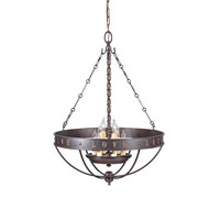 Feiss Live, Laugh, Love 6 Light Chandelier in Grecian Bronze F2828/6GBZ