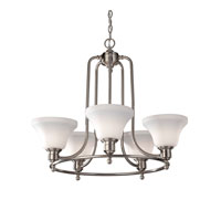 Feiss Cumberland 5 Light Chandelier in Brushed Steel F2829/5BS
