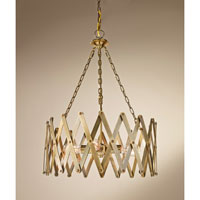 Feiss Hugo 4 Light Chandelier in Bali Brass F2902/4BLB