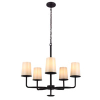 Feiss Huntley 5 Light Chandelier in Oil Rubbed Bronze F2924/5ORB