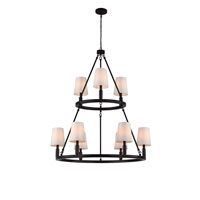 Feiss Lismore 9 Light Chandelier in Oil Rubbed Bronze F2937/3+6ORB