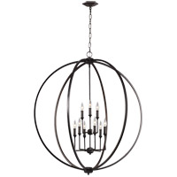 Feiss F3058/9ORB Corinne 36 inch Oil Rubbed Bronze Chandelier Ceiling Light