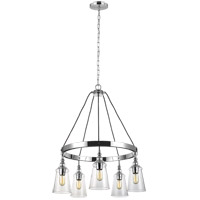 Feiss F3169/5CH Loras 29 inch Chrome Chandelier Ceiling Light