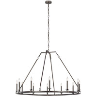 Feiss F3216/12SMS Landen 48 inch Smith Steel Chandelier Ceiling Light