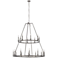 Feiss F3217/20SMS Landen 48 inch Smith Steel Chandelier Ceiling Light
