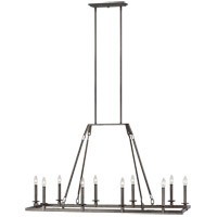 Feiss F3218/10SMS Landen 17 inch Smith Steel Chandelier Ceiling Light