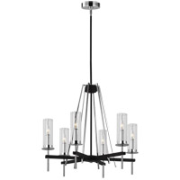 Feiss Textured Black Steel Chandeliers