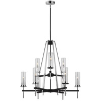 Feiss F3226/9TXB/CH Broderick 33 inch Textured Black Chandelier Ceiling Light